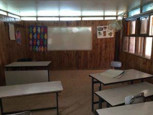 """Ein Klassenraum der """"Reifen-Schule"""""""