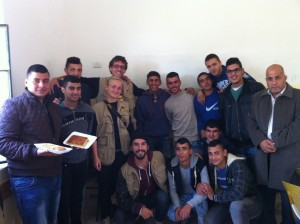 EAs und Schüler der Secondary Boys School in al-Khadr, Bethlehem