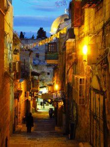 Straße in der Altstadt Jerusalems ©EAPPI