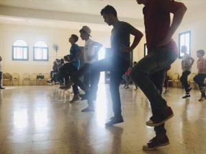 Die gemischte Tanzgruppe beim Training © TRDA