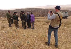 Begleitung von Schafhirten in den South Hebron Hills