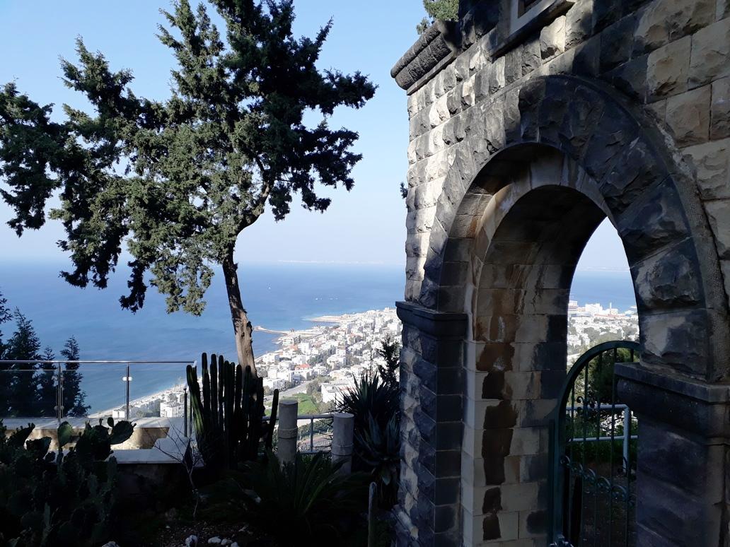 Blick vom Stella Maris Guesthouse auf die Küste von Haifa; Foto © EAPPI
