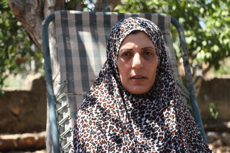 Salaam, Mutter von Aala (26), Amir (21) und Ahmed (15). Alle drei saßen oder sitzen in israelischen Gefängnissen. (Photo: EAPPI)