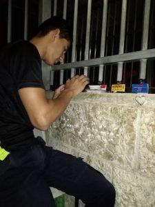 Ameer bei seiner frühmorgendlichen Arbeit am Checkpoint ©EAPPI
