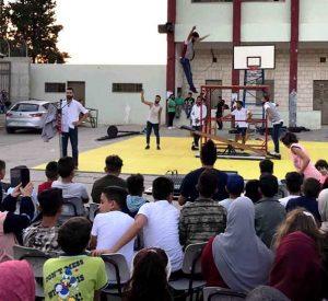 Von Target organisierter Auftritt der Palestinian Circus School in Burin © TRDA