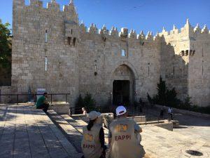 EAs beobachten Kontrollen der israelischen Polizei am Damaskustor