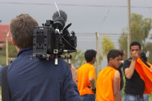 Das Filmteam beim Dreh