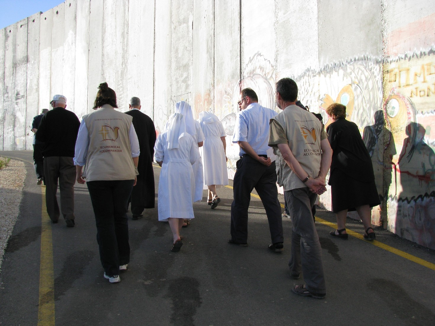 Gebet an der Mauer in Betlehem (Foto: Kate Taber)