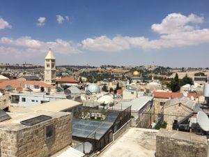 Blick über die Altstadt von Jerusalem zum Ölberg