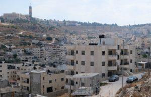 Isawiya, im Hintergrund der Turm und Teile der Hebrew University; Foto @ EAPPI