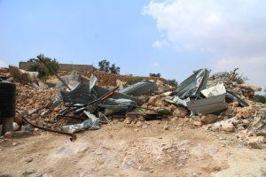 Zerstörte Häuser in Khirbet al-Marajim; © EAPPI