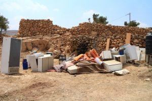 Die wenigen Habseligkeiten der ehemaligen Bewohner; © EAPPI