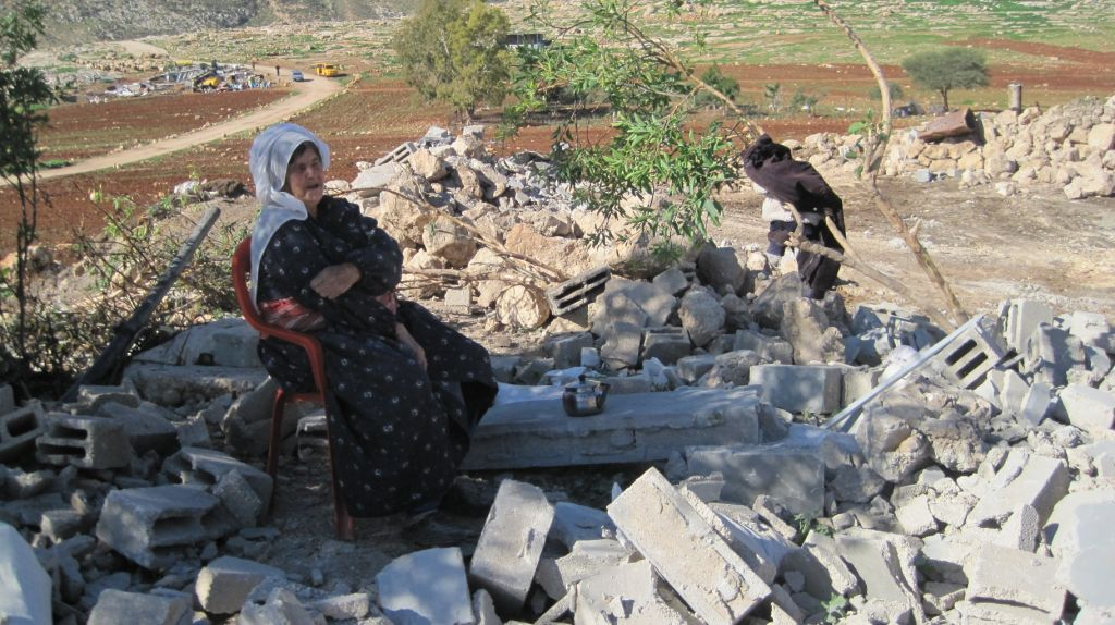 Zerstörtes Gebäude in Khirbet Tana