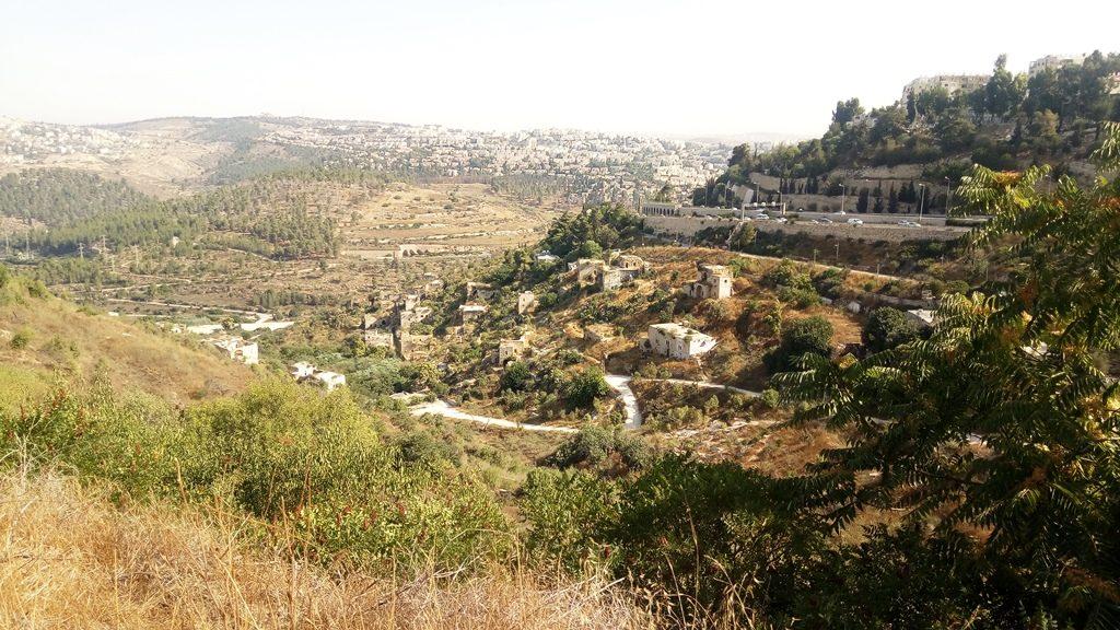 Die Ruinen von Lifta am Rand von West-Jerusalem
