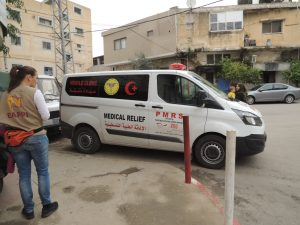 Die mobile Klinik der PMRS; © EAPPI