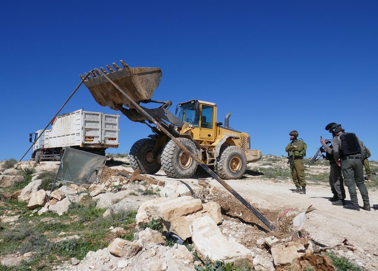 Zerstörung der Wasserleitungen in Masafer Yatta; Foto © EAPPI