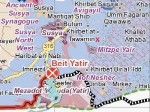 Um al Arais liegt oberhalb von Khirbet at Tawamin; Karte UNOCHA