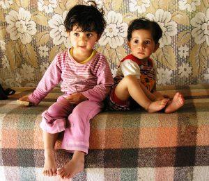 Sarah und Suar, die Kinder von Ahmed und Halima