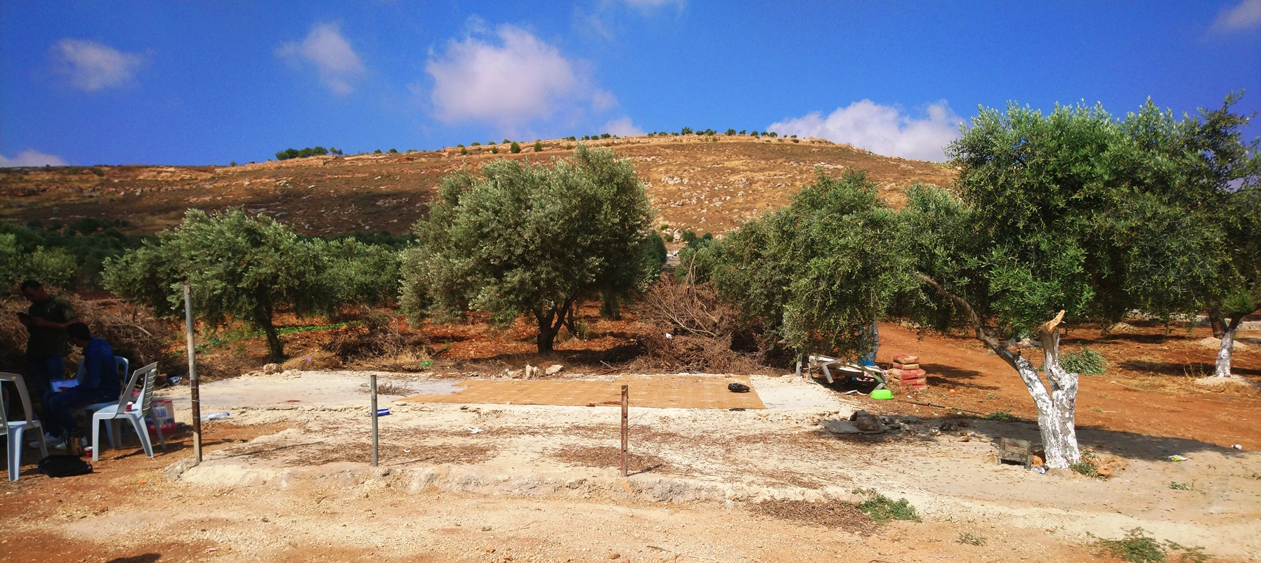 Das Fundament ist alles, was an die zerstörten und konfiszierten Gebäude in Qusra erinnert. Foto © EAPPI