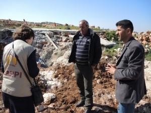 Zerstörte Gebäude in Qusra