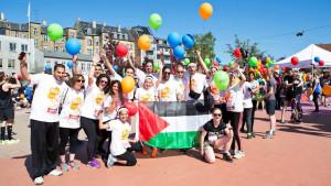 Läufer*innen aus Palästina beim Marathon in