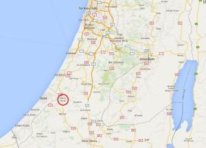 Sderot an der Grenze zum Gaza-Streifen