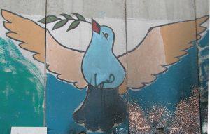 Friedenstaube an der Mauer