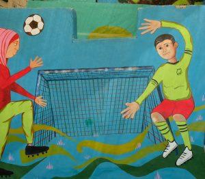 Für Mädchen und Jungen: Torwand im Madass-Center von Silwan. Foto © EAPPI