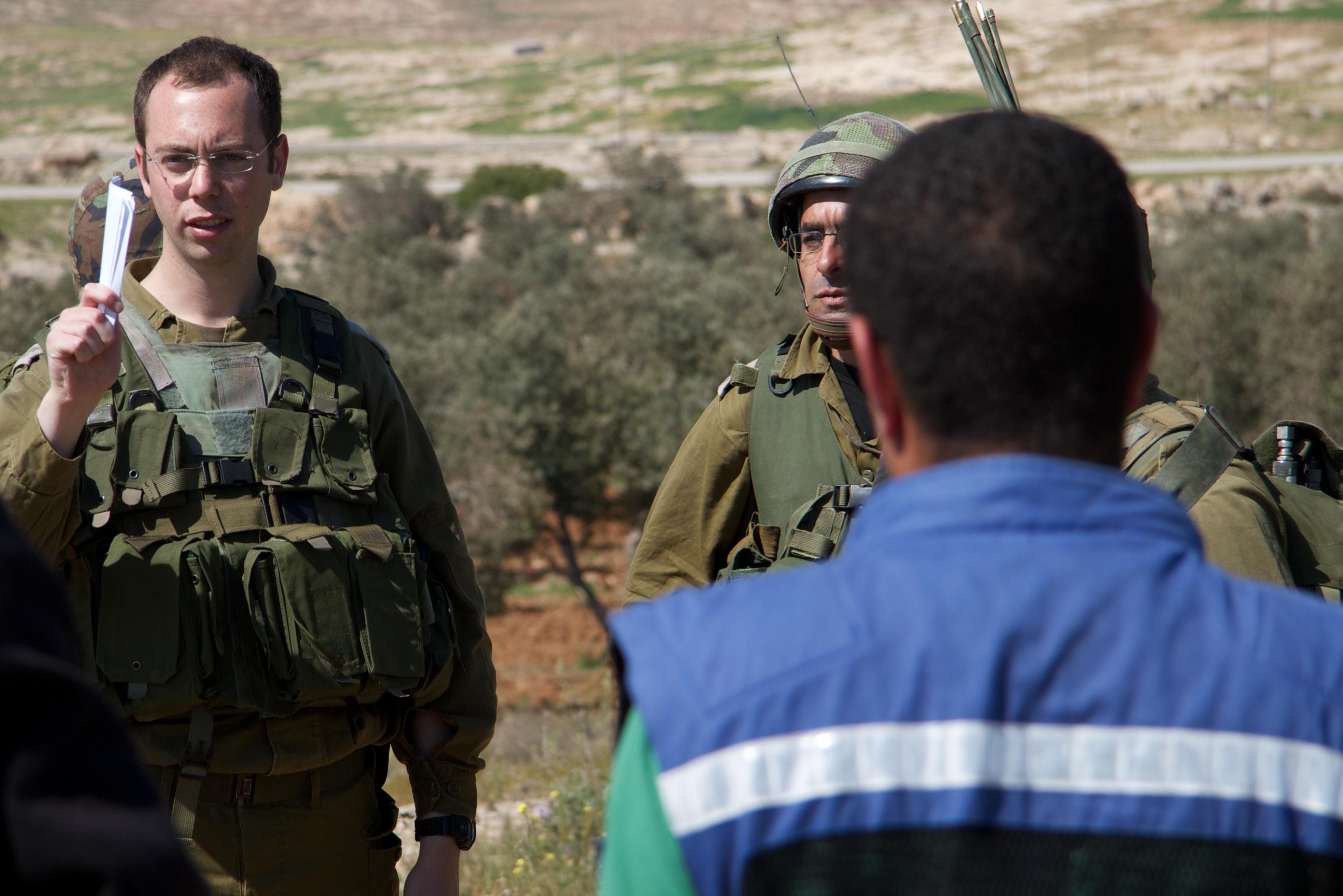 Israelische Soldaten in Susya