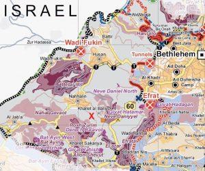 Das Tent of Nations nahe Bethlehem liegt inmitten des Gush Etzion Siedlungsblocks; Karte UNOCHA