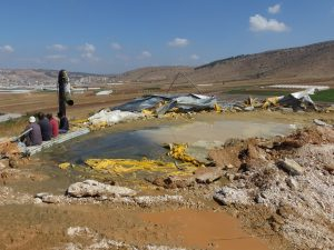 Nach der ersten Zerstörung im Oktober 2019; Foto © EAPPI (Cassie)