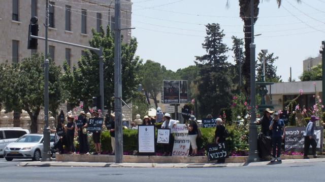 """Seit 30 Jahren finden die Mahnwachen der """"Women in Black"""" in Jerusalem statt; © EAPPI"""
