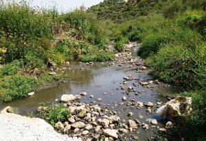 Abwasser fließt durch die Landschaft © EAPPI