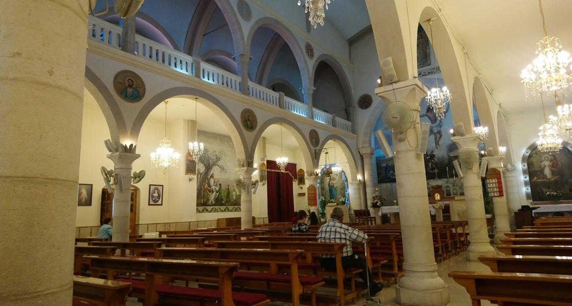 Messe in einer katholischen Kirche in Ramallah © EAPPI