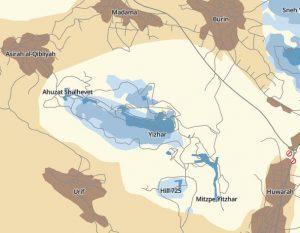 Ausschnitt interaktive Karte www.btselem.org
