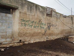 Graffiti auf einer Mauer in Lower Yanoun; ©EAPPI