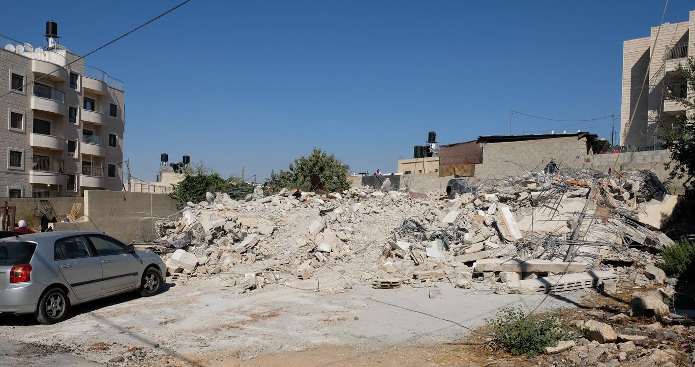 Überreste des zweistöckigen Hauses nach der Zerstörung in Beit Hanina, Ost-Jerusalem. Foto © EAPPI