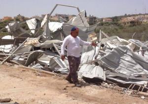Das zerstörte Gewächshaus von Jalal