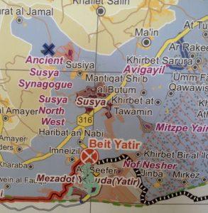 Susiya im Kartenausschnitt von UNOCHA